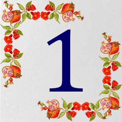 Piastrelle decorative per numero civico personalizzato - Piastrelle decorative ...
